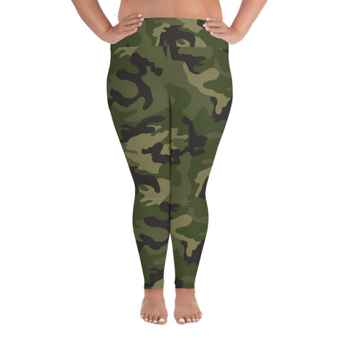 High Waisted Plus Sized Leggings with High Waist