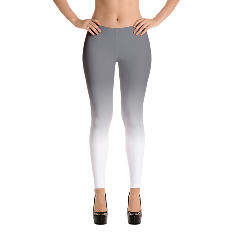 Grey and White Ombre Leggings