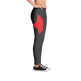 Red Star Black, Spandex and Polyester, Leggings