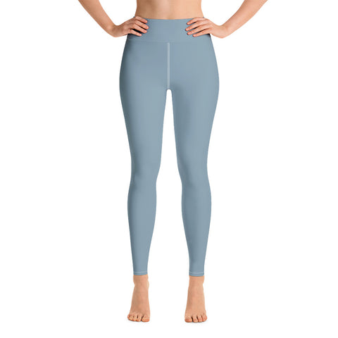 High Waist Cool Blue Yoga Leggings