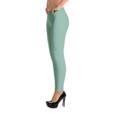 Green Spandex and Polyester, Leggings