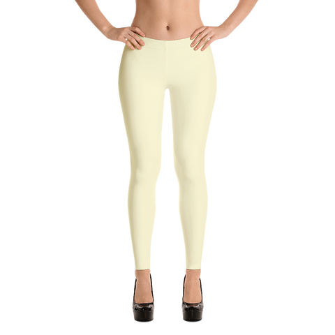 Yellow, Spandex and Polyester, Leggings