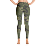 Pocket Leggings in Camouflage Print and High Waisted
