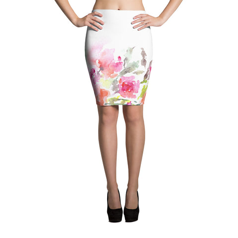 Floral Pencil Skirt Womens Skirt Womens Floral Skirt