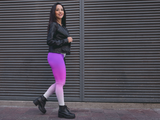 Purple Pink & White Ombre Leggings