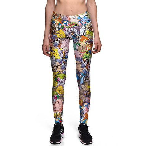 Gotta Wear Them All High Waist Workout Fitness Women Leggings Pants