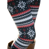 Womens Autumn Winter Warm Leggings Fashion Christmas Printed High Elastic Skinny Leggings Slim Pencil Pants