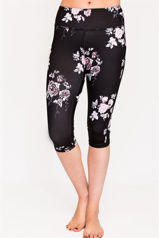 High Performance Printed Capri Leggings