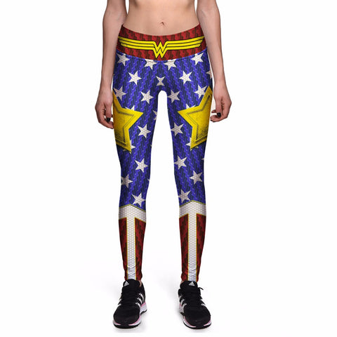 Wonder Woman High Waist Workout Fitness Women Leggings
