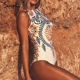 Boho Retro print One-piece Swimsuit