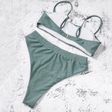 Spaghetti Strap High Waist Swimsuit
