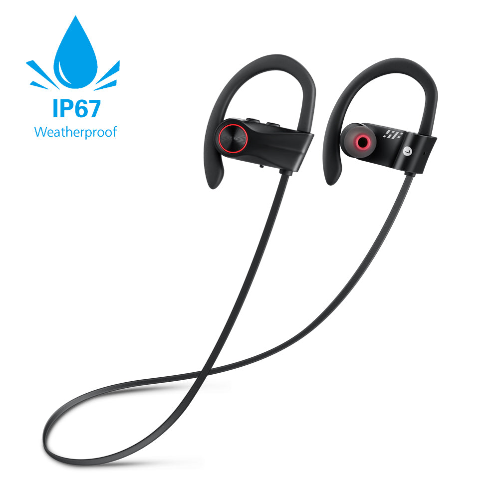 Siroflo BH - 01 Waterproof Sport Bluetooth Earphone - Black