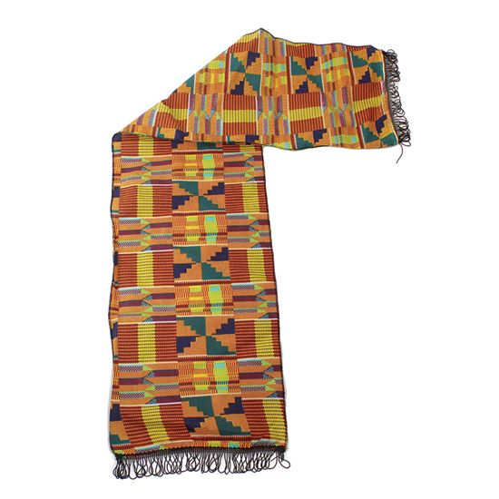 African Kente cloth Scarf Head Tie Wrap