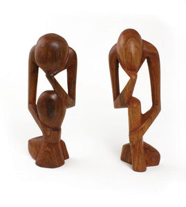 African Thinker Statue - Brown