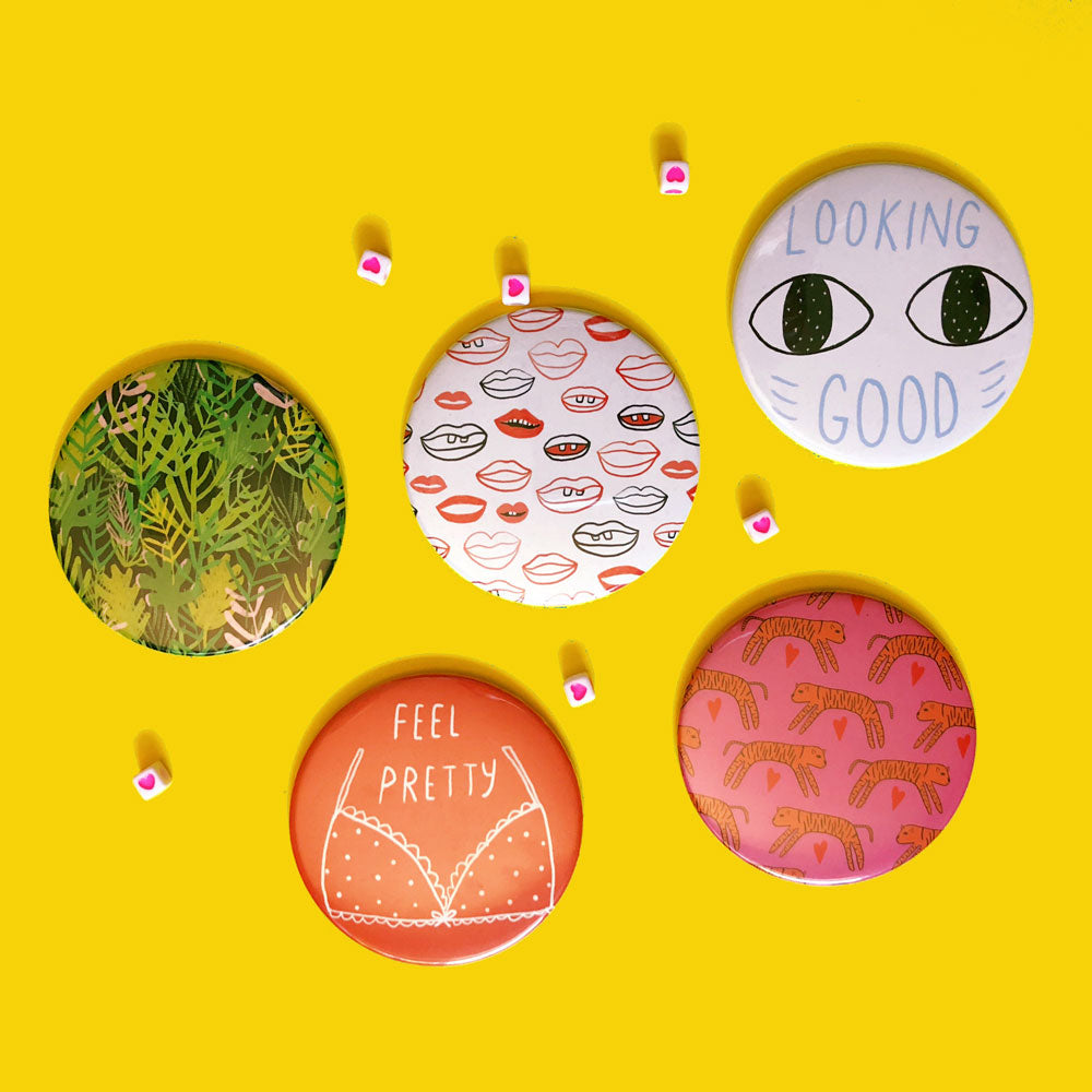 5 pocket mirrors by tigerpocket press