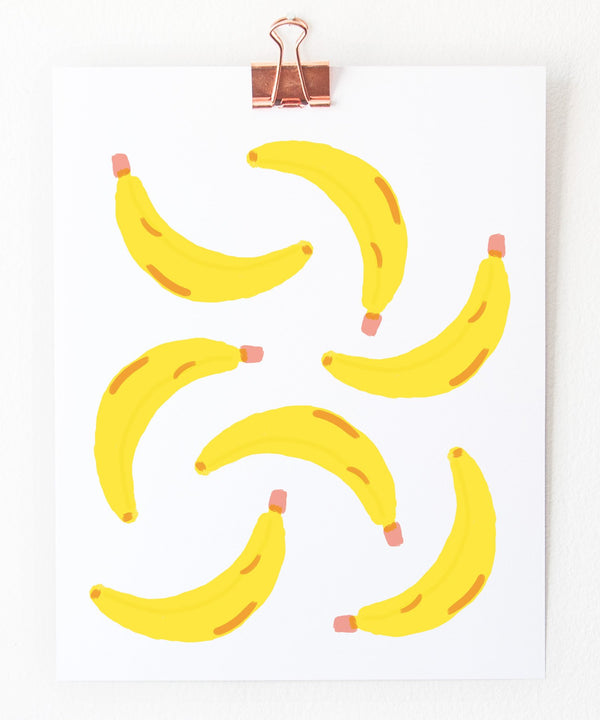 banana spray art print