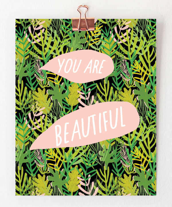 beautiful plants art print by tigerpocket press