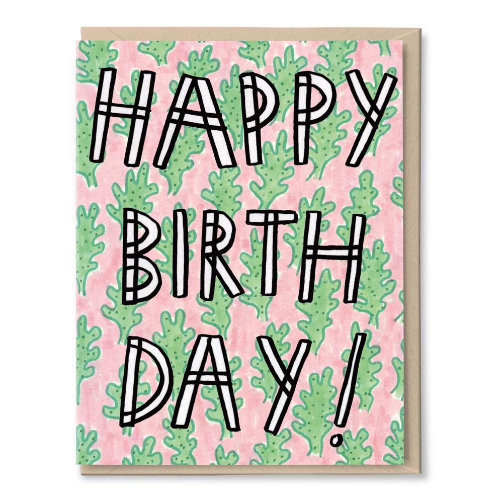 birthday cactus card