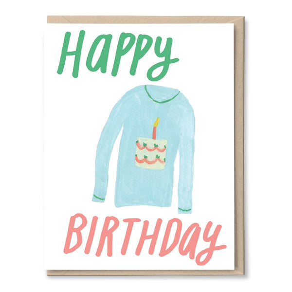 birthday cake shirt card