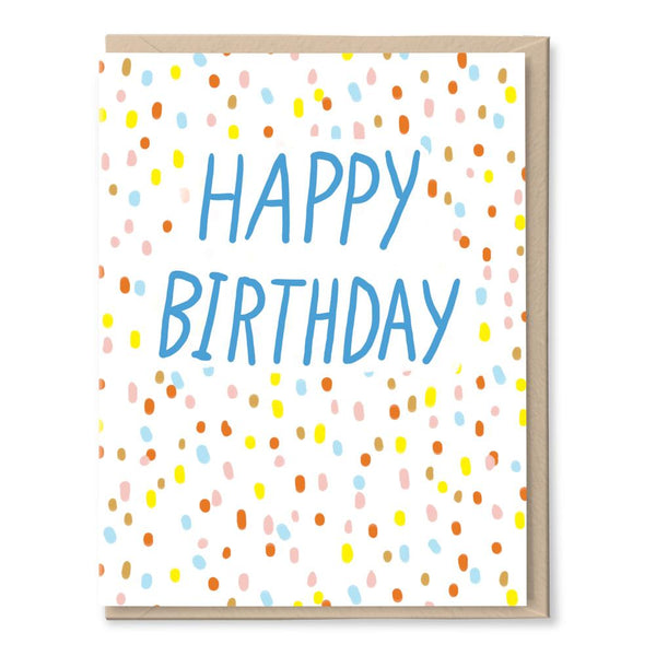 birthday confetti card