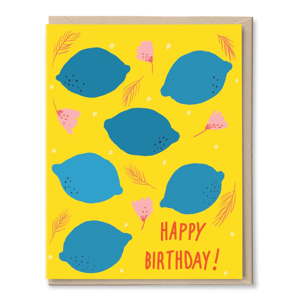lemons birthday card