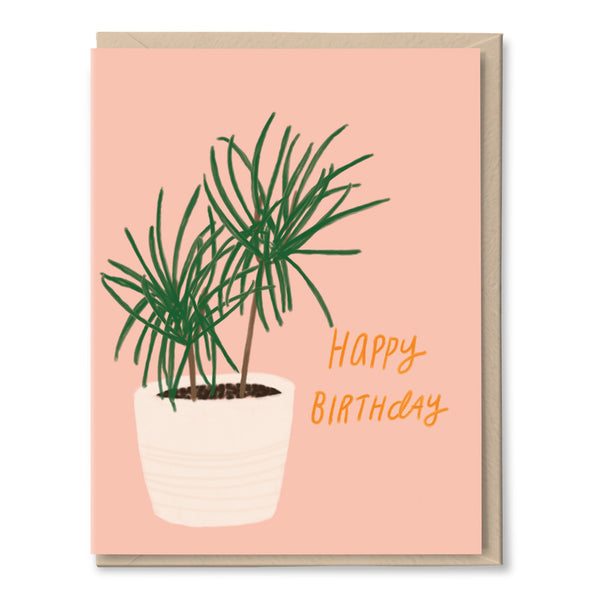 potted plant birthday card by tigerpocket press