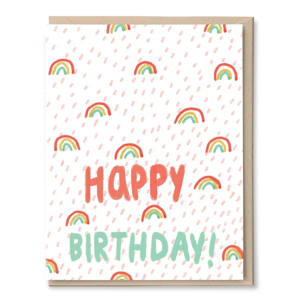 birthday rainbow confetti card