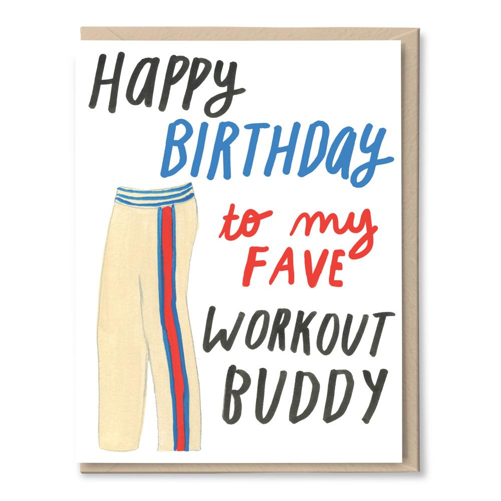 birthday workout buddy card