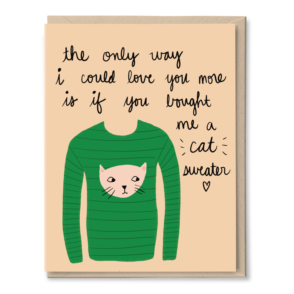 cat sweater love card