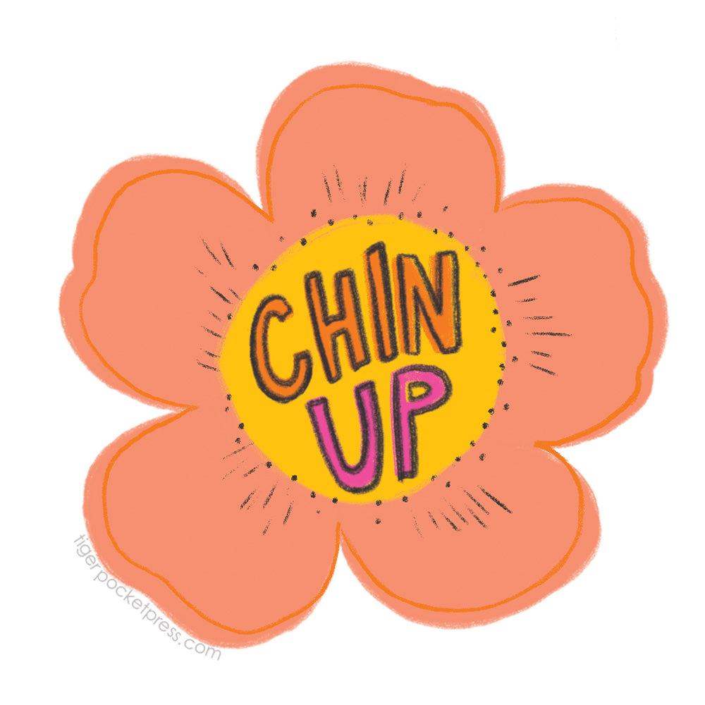 chin up buttercup sticker