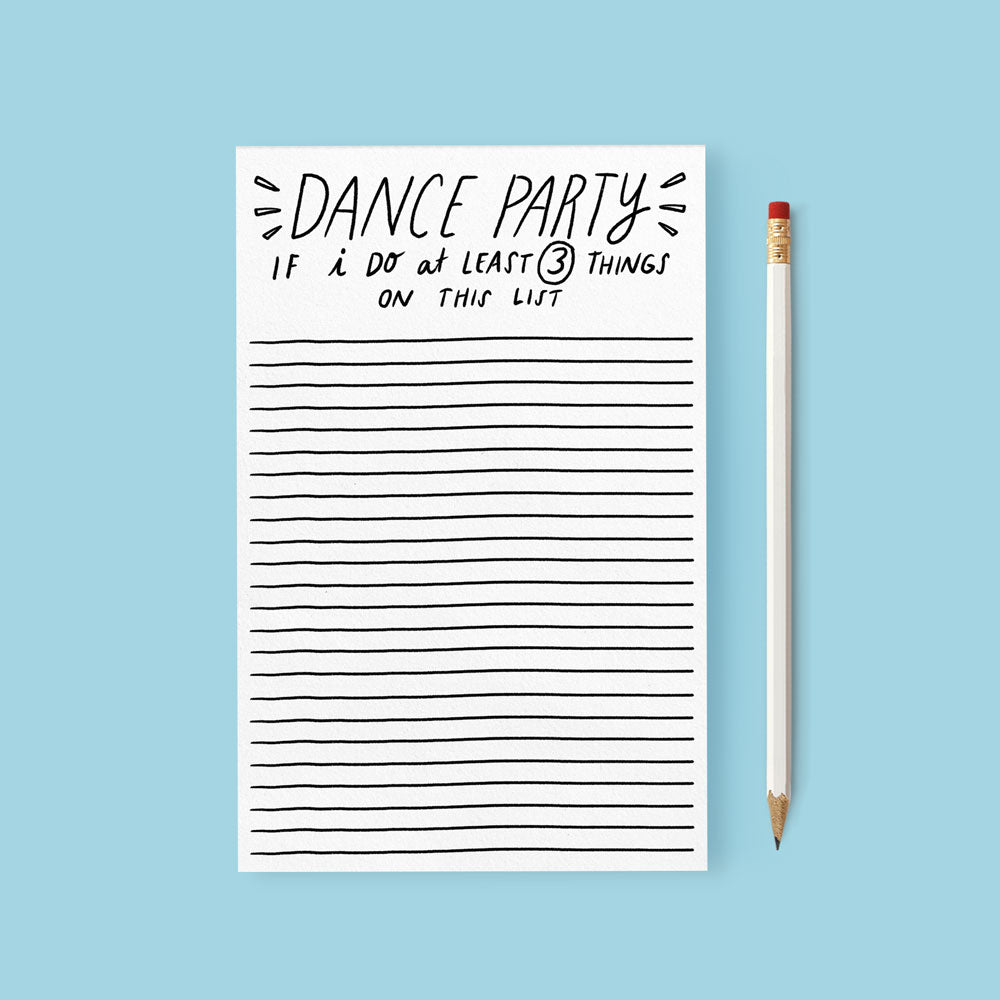 dance party notepad