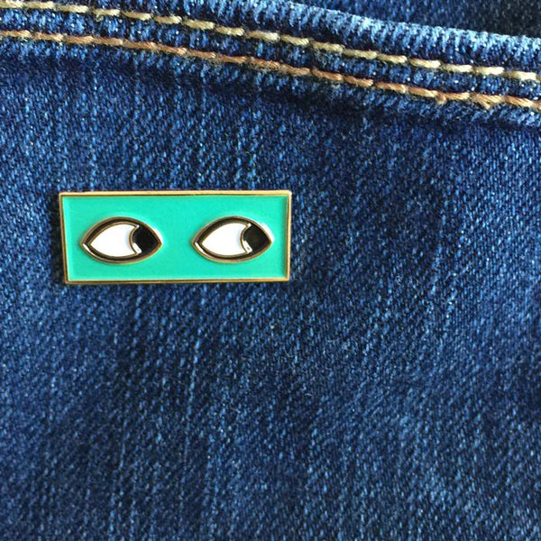eye see you enamel pin
