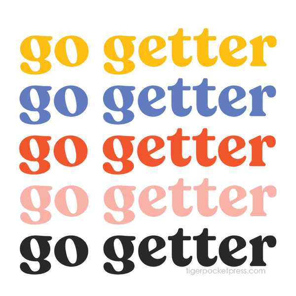 go getter sticker