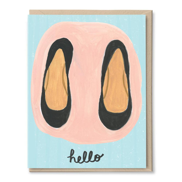 hello shoes card