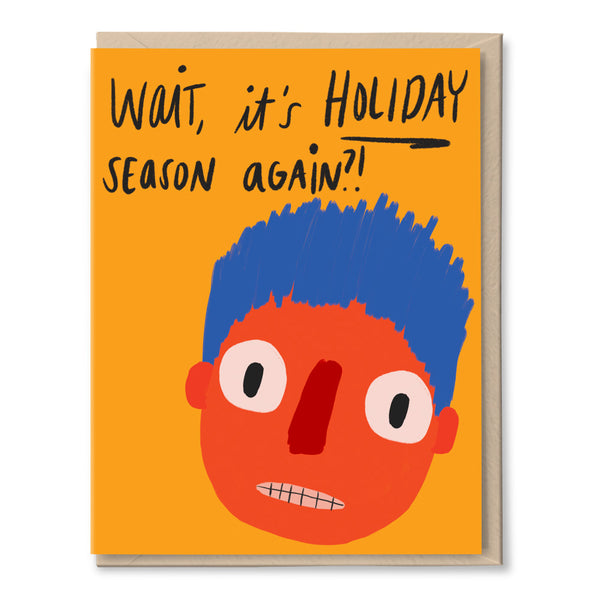 funny face holiday card by tigerpocket press