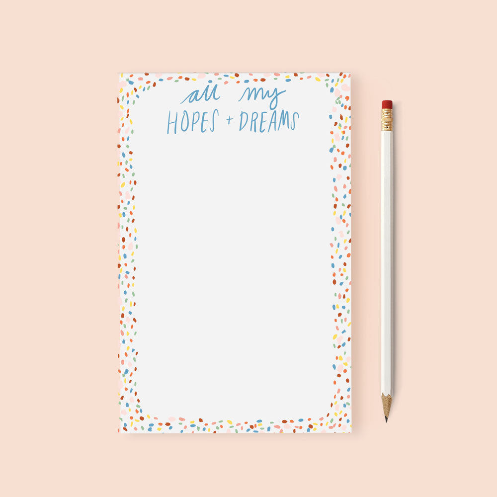 hopes and dreams notepad