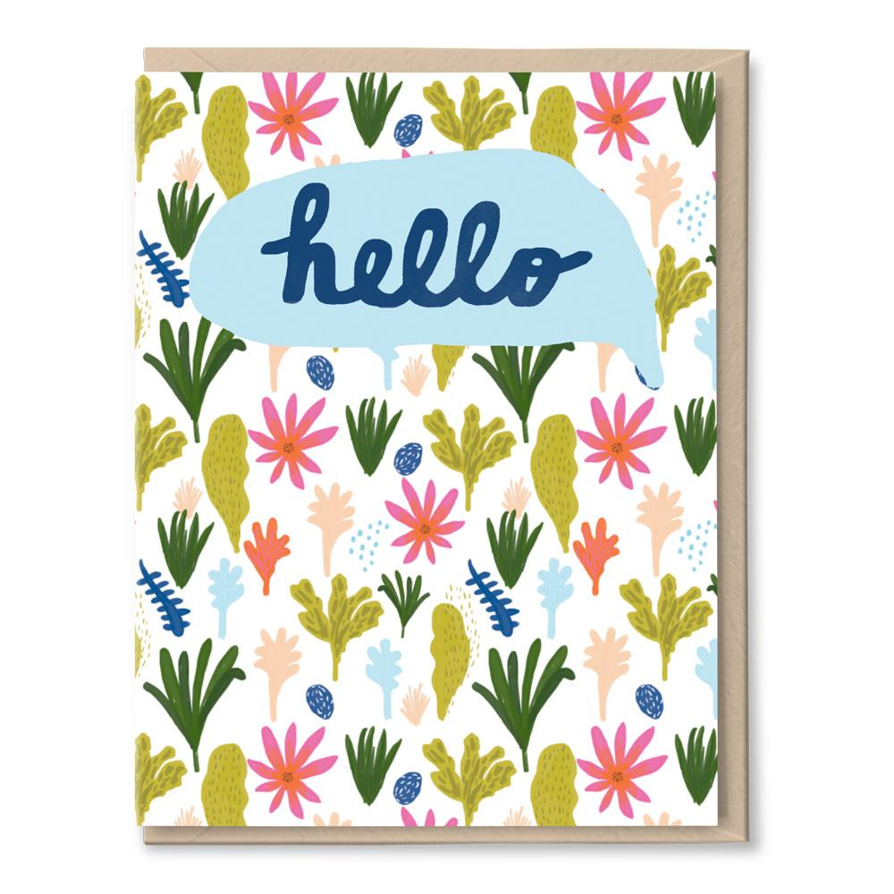 jungle hello card
