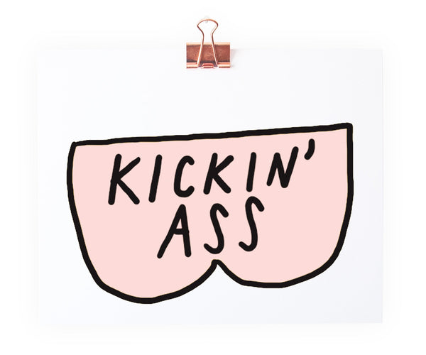 kickin ass art print
