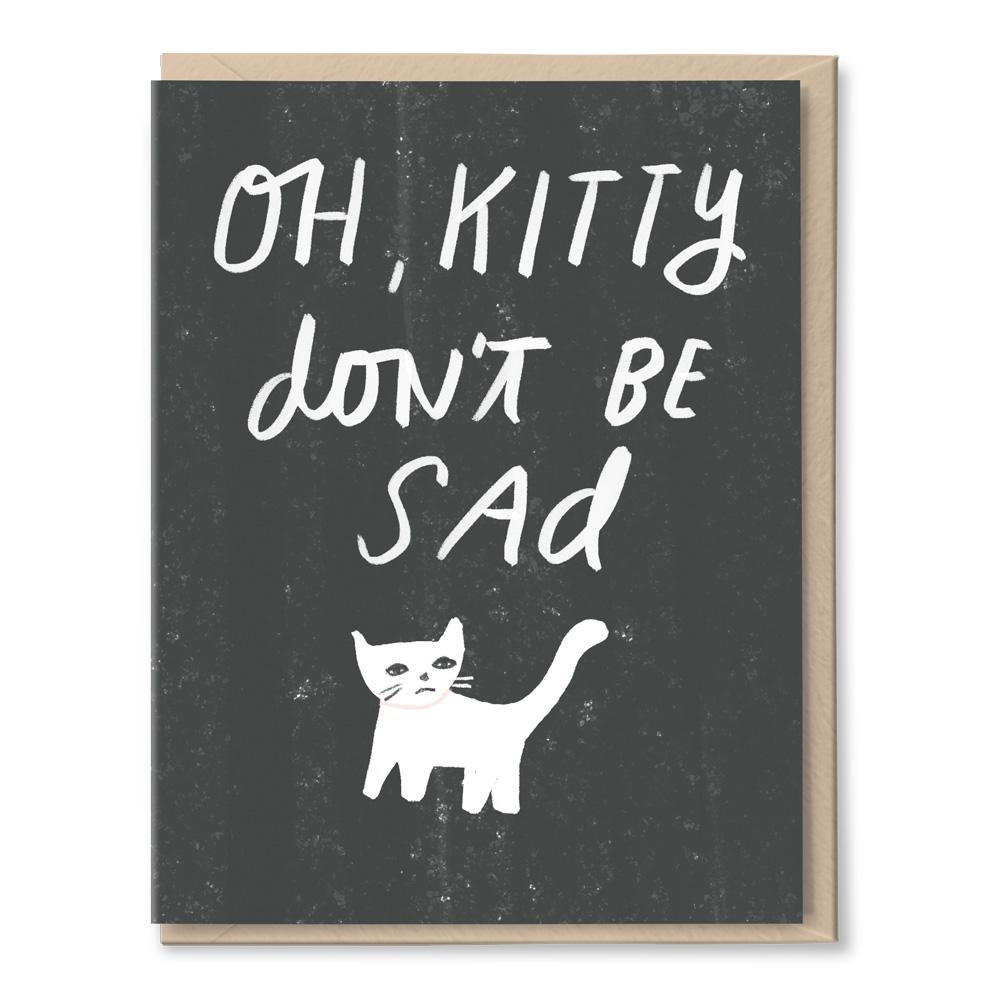 kitty don't be sad card