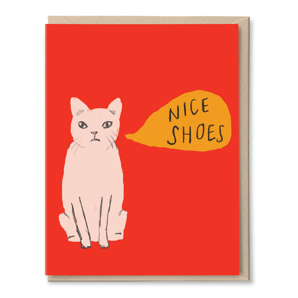 nice shoes cat - just because card BOXSET