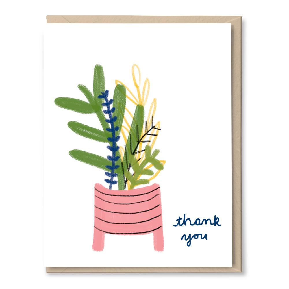 plant pot thanks card