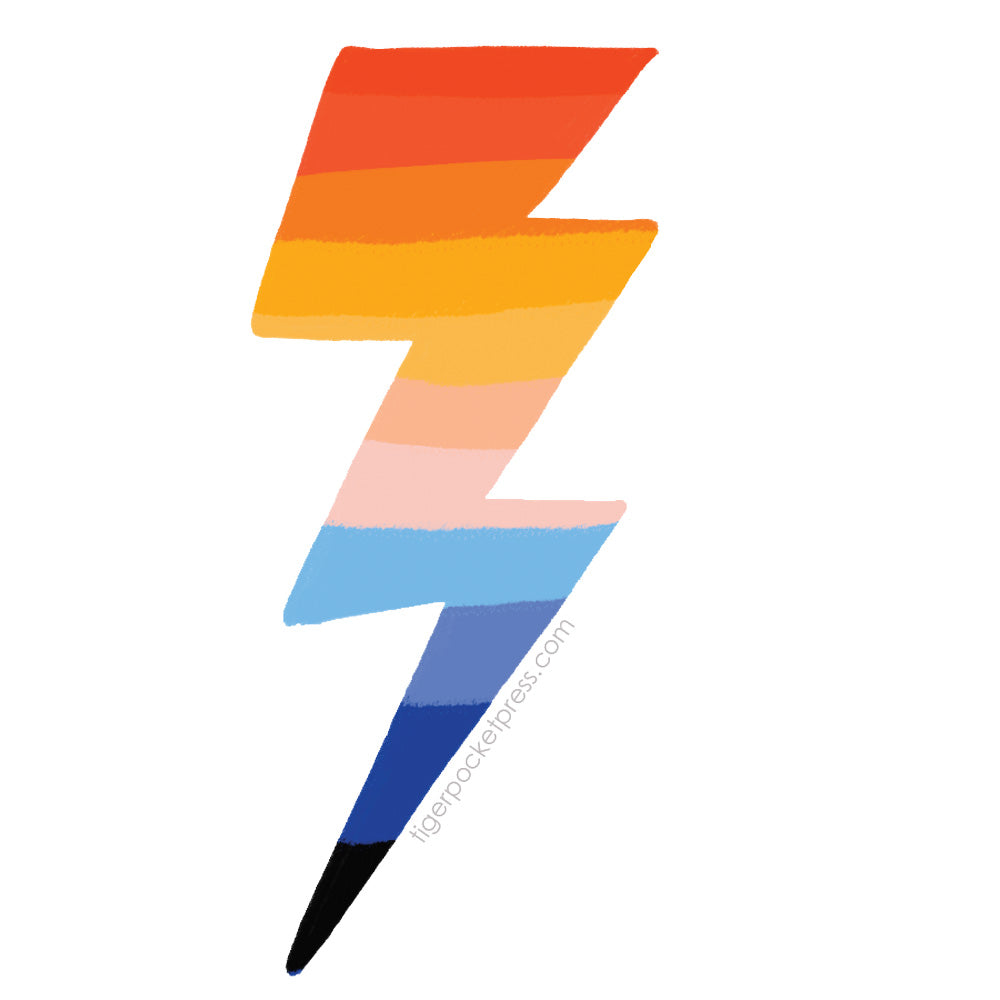 rainbow lightning sticker