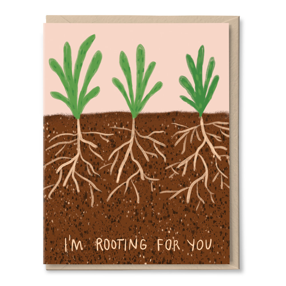 rooting for you encouragement card