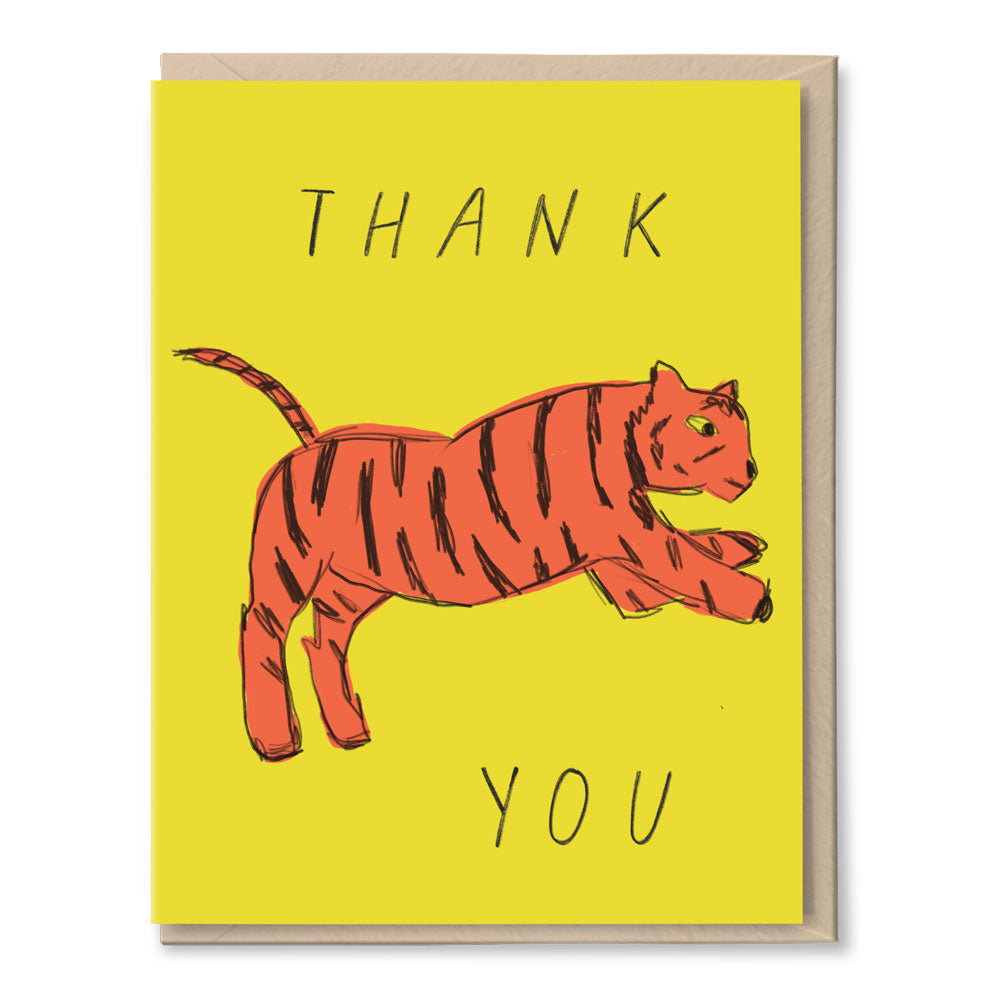 thank you card BOXSET - tiger