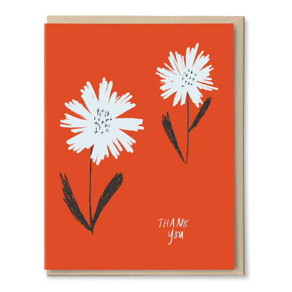 thank you card BOXSET - two daisies