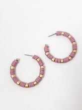 Clay Bead Hoops | Rose
