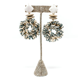 Maya Raffia Earrings