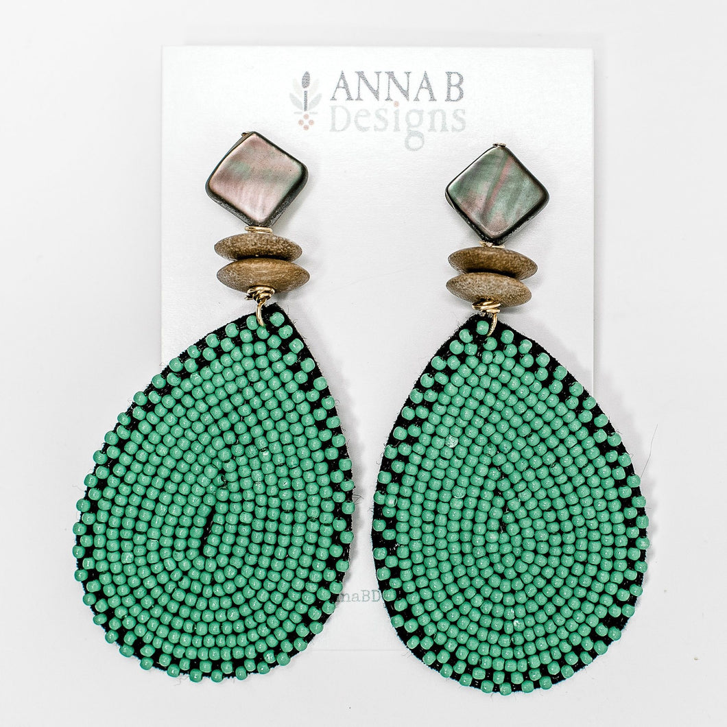 Elise Earrings | Green
