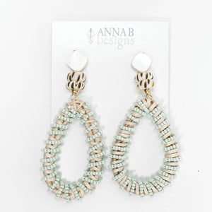 Claudia Woven Earrings- Aqua
