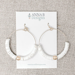Evie Clay French Hooks | White